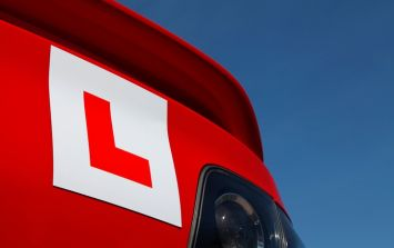 Learner driver cautioned by Gardaí for comical misplacement of 'L' plate