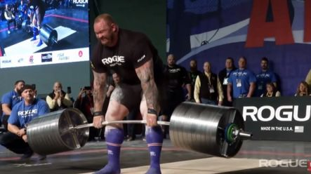 WATCH: The Mountain from Game of Thrones breaks his own