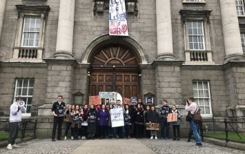 Trinity students have 'taken over' the university in defiance at proposed fees