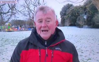 An amusing blooper on TV3 news warmed the hearts of viewers during the cold weather