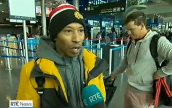WATCH: Actor from The Wire appears on RTÉ News report at Dublin Airport giving out about flight delays