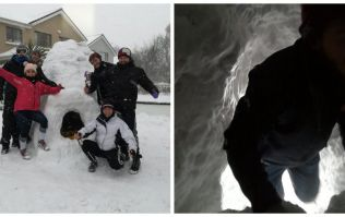 PICS: Group of friends in County Meath have built an igloo with a fully stocked bar