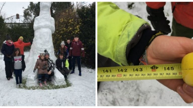 PICS: This guy in Dublin may have built Ireland's tallest snowman
