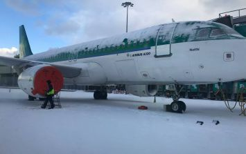 WATCH: This is what a red alert for heavy snowfall looks like at Dublin Airport