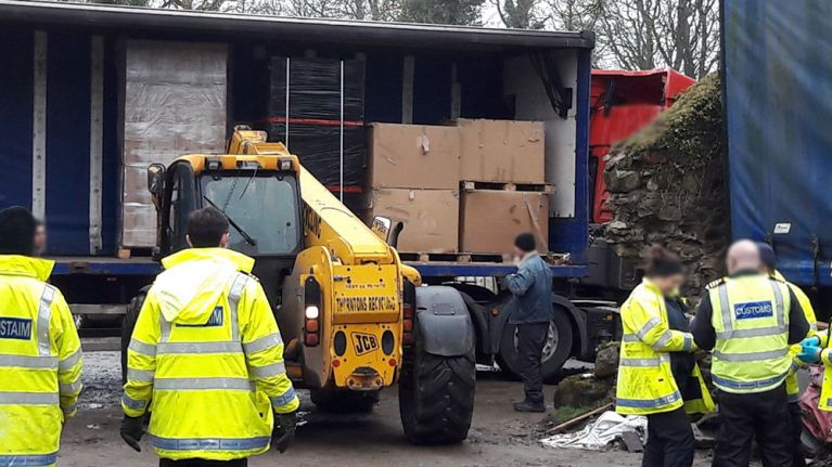 PICS: A factory capable of producing 250,000 illegal cigarettes per hour has been uncovered by Gardaí