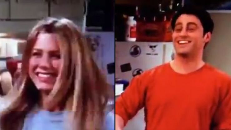 Matt LeBlanc spotted mouthing lines to Jennifer Aniston in Friends archive footage