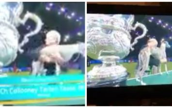 WATCH: Every dog owner will relate to this woman protecting her dog at the Crufts final