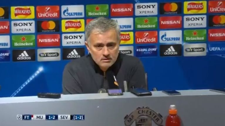 WATCH: Jose Mourinho's post-match press conference might not endear him to Manchester United fans