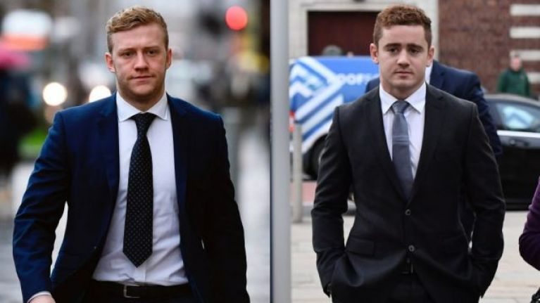 """Ulster club apologises and labels 'Paddy Jackson/Stuart Olding' photo as """"inappropriate"""""""