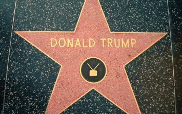 Donald Trump's star on the Hollywood Walk of Fame has been smashed by a pick axe