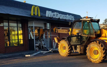 JCB drives into Limerick McDonald's in failed burglary attempt