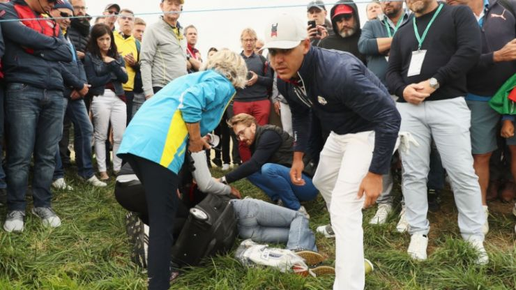 Woman who lost sight in eye after being hit by ball during Ryder Cup speaks out