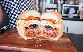 A burger van in Wales is selling this heart attack in a loaf