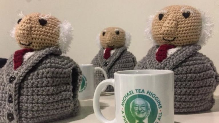 President Michael D. Higgins tea cosies sell out in just four minutes