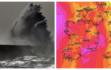Met Éireann say a storm could hit Ireland by Thursday with rain and 'damaging gusts in places'