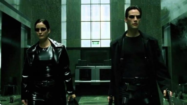 WATCH: The Matrix lobby shoot-out with only sound effects