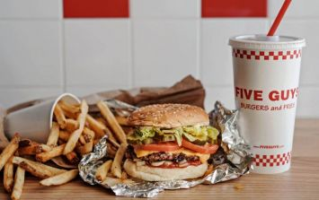 Great news because Five Guys are now delivering