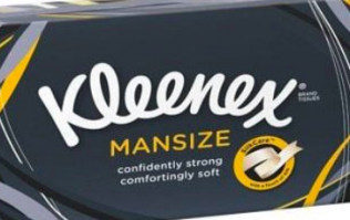 Kleenex are rebranding their 'Mansize' tissues following sexism complaints