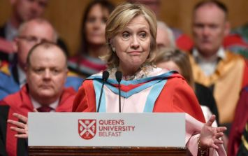Hillary Clinton's speech in Belfast appears to have some glaring inaccuracies