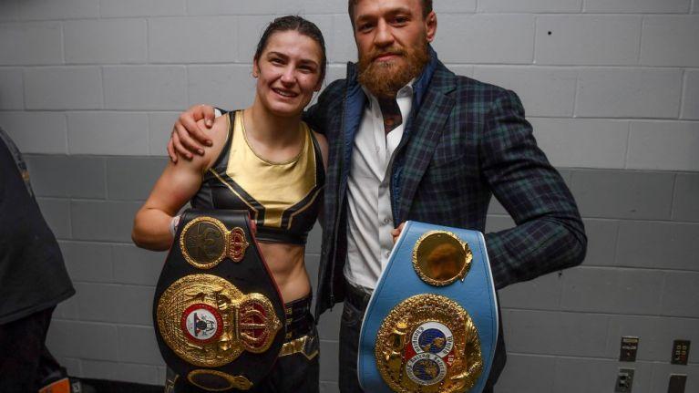Conor McGregor posts congratulatory message to Katie Taylor on Instagram