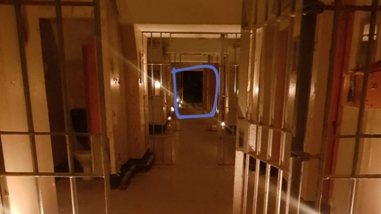 """PICS: Eerie photo from Cork prison appears to show """"ghost"""" at end of the hall"""
