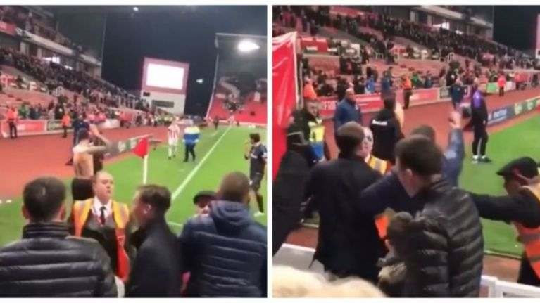 WATCH: Footage of football fans verbally abusing James McClean for not wearing a poppy