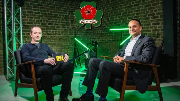 Leo Varadkar explains his reasons for wearing the shamrock poppy