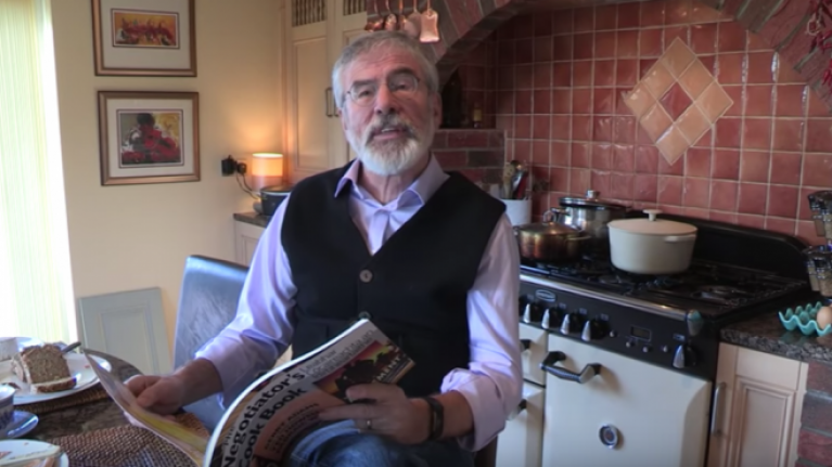 WATCH: Gerry Adams talking about his new cookbook might be the funniest thing of 2018