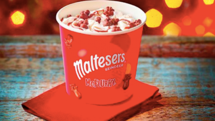 McDonald's are launching a festive and delicious Malteser Reindeer McFlurry
