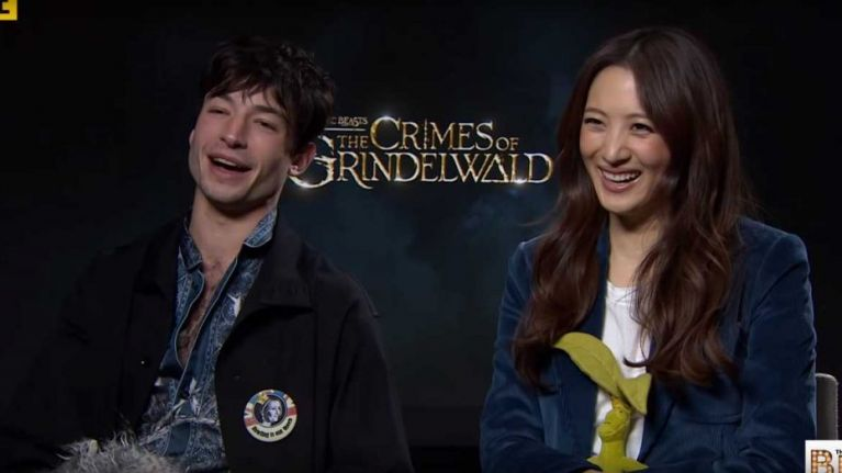 WATCH: Ezra Miller and Claudia Kim talk about how much J.K. Rowling tells the cast about future of Fantastic Beasts