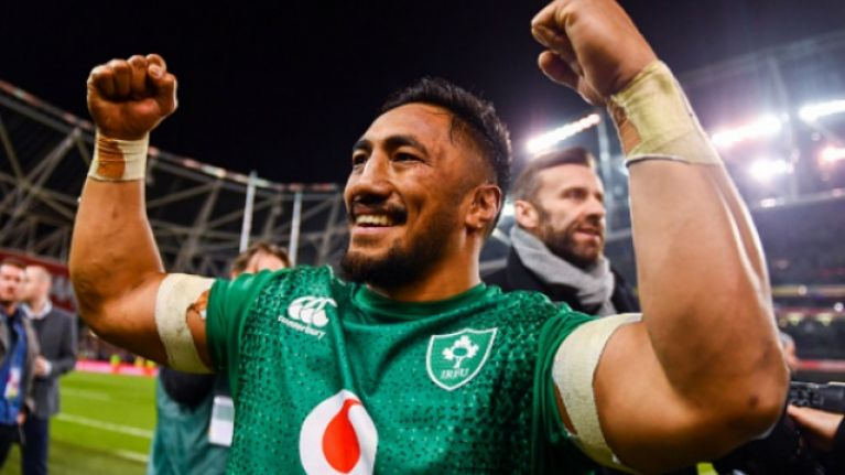 Bundee Aki's celebrations at the end of the magnificent New Zealand win are absolutely magic