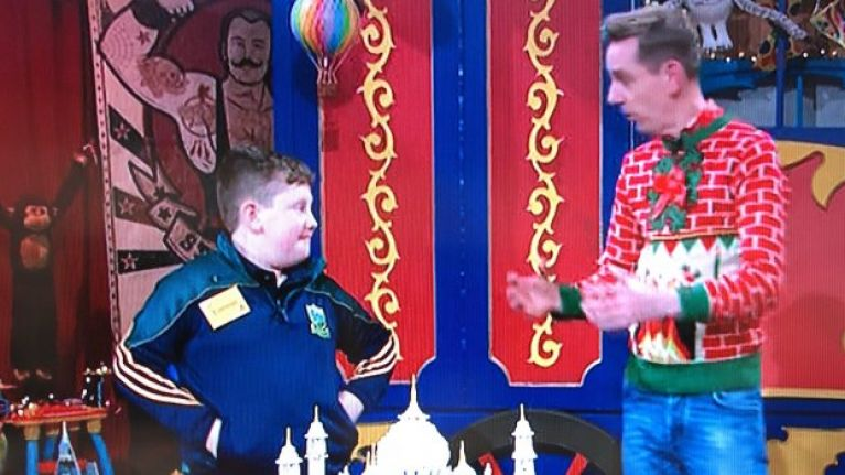 A kid named Cormac absolutely stole the show on the Late Late Toy Show