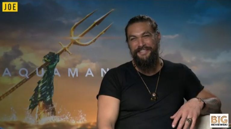 EXCLUSIVE: Jason Momoa on working in wet jeans and being mistaken for a drag queen in Belfast