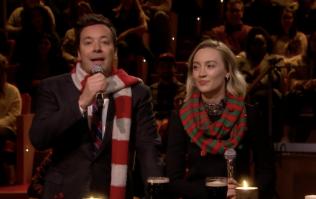 Saoirse Ronan and Jimmy Fallon perform 'Fairytale of New York' on the Tonight Show