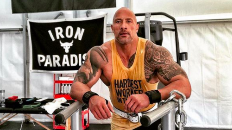 The Rock's portable gym looks like the ultimate place to train