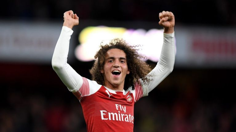WATCH: Matteo Guendouzi celebrates with Arsenal fans after North London derby win