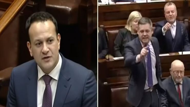 """""""It doesn't take very long for your balaclava to slip."""" Leo Varadkar in heated Dáil exchange with Pearse Doherty"""