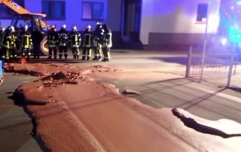Factory leak now means that there's an entire street that's covered in chocolate