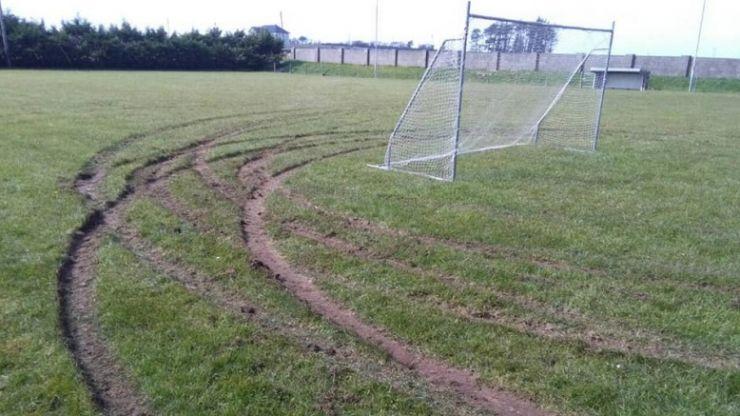 "Galway club ""devastated"" after GAA pitch vandalised by joyriders"