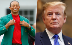 Donald Trump had to go and ruin Tiger Woods' amazing Masters victory