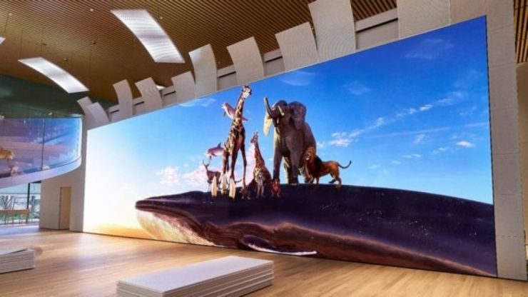 Sony reveal 16K television that is as tall as a giraffe