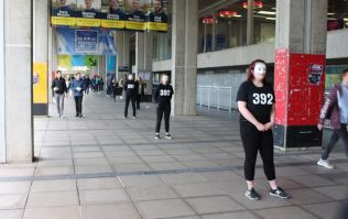 UCD students mask themselves on campus as part of mental health campaign
