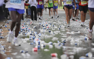 London Marathon hands out edible water bottles in a bid to reduce plastic waste