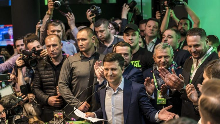 "Comedian ""wins Ukraine's presidential election by landslide"""