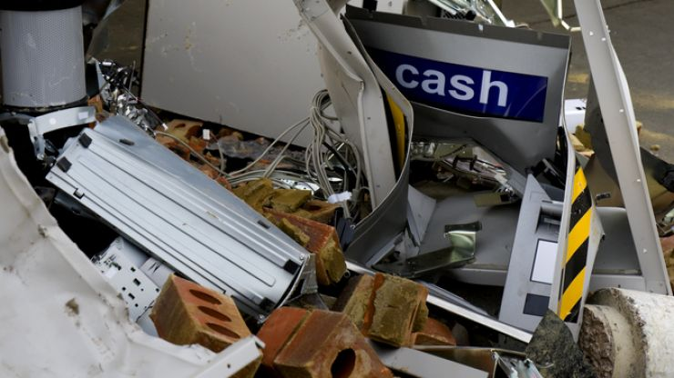 Two arrested while trying to steal an ATM with a digger