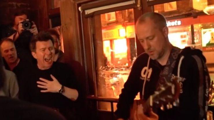 WATCH: Rick Astley treats crowd to a medley in Dublin pub