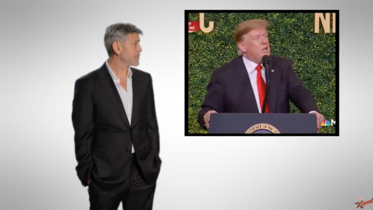 George Clooney calls Donald Trump and climate change deniers 'dumb f***ing idiots'