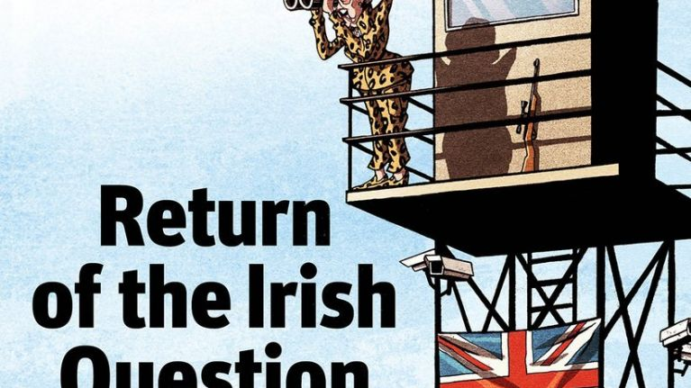 """British magazine cover on the """"Return of the Irish Question"""" is getting a lot of hate online"""