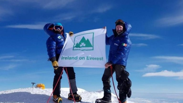 Irish climber missing on Mount Everest after reaching the