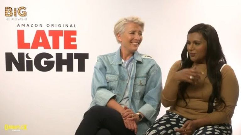 Emma Thompson and Mindy Kaling chat Late Night, being a GIF, and loving Emilia Clarke